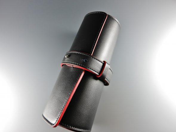 Leather wristwatch holder ¥61,500.-