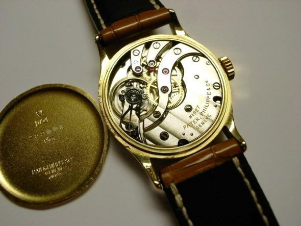 ref.96 Yellow gold with black breguet dial
