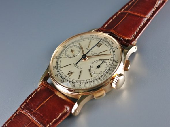 "ref.130 rose gold retailed by ""Eberhard Milan"""