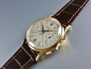 ref.1436 Yellow gold split seconds chronograph