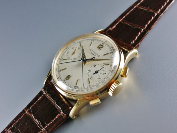 ref.1436 Yellow gold split seconds chronograph