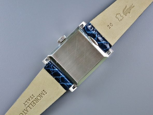 ref.2496 platinum with blue enamel dial