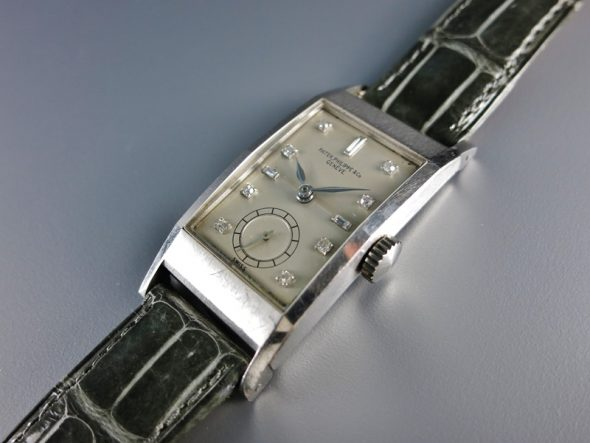 ref.425 Platinum with diamond set dial