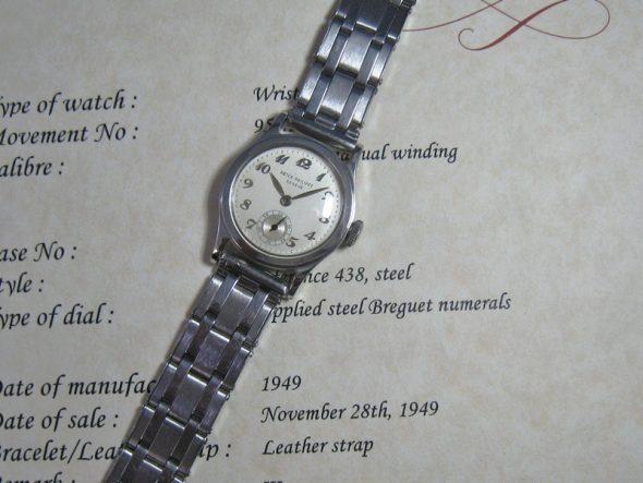 ref.438 Steel with Breguet numerals