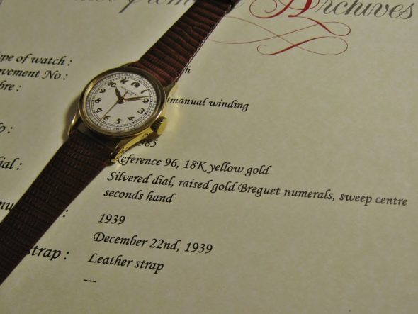 ref.96 Yellow w/Breguet numerals & Minutes track