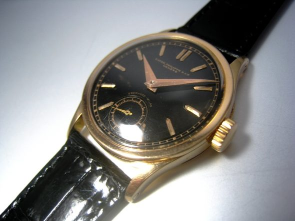 ref.96 Rose gold black dial by Eberhard Milan
