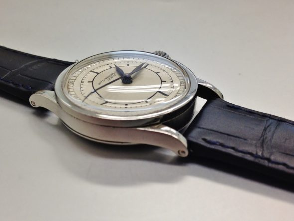 ref.96 Stainless steel with two tone sector dial