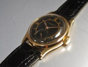 ref.98 Rose gold with Black dial
