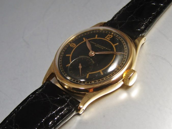 ref.98 Rose gold with black sector dial