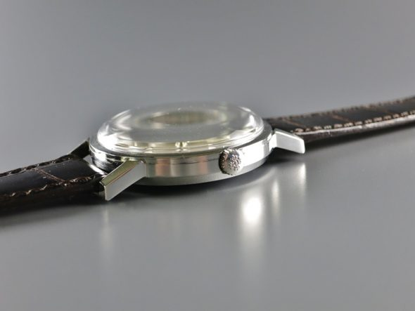 ref.3466 Steel with enamel signature
