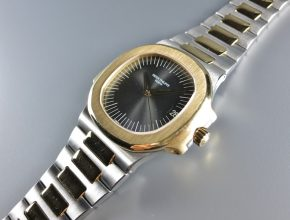 ref.3800/1 yellow and steel with exotic dial
