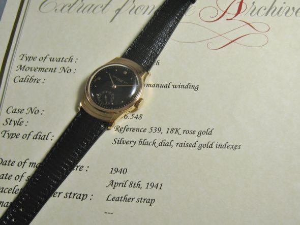 ref.539 rose Black dial
