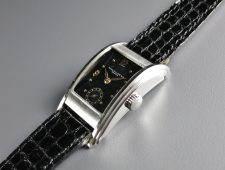 ref.524 steel with Black dial