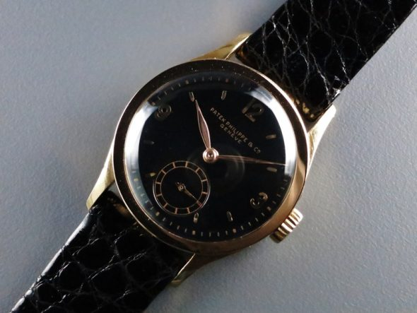 ref.448 rose gold with black dial