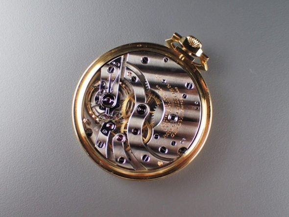Pocket watch Yellow gold with Black dial
