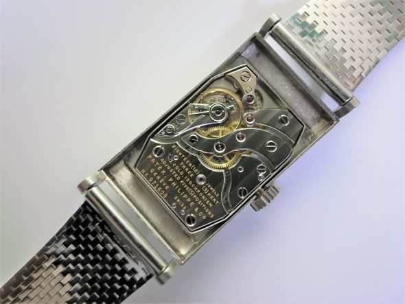 ref.425 platinum with diamond indexes and platinum bracelet