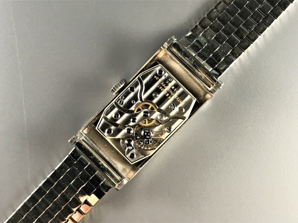 ref.425 Platinum with Black dial & Diamond indexes