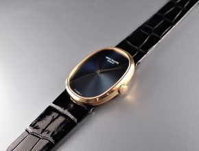 ref.3748 Yellow with two tone blue dial ¥1,380,000.-