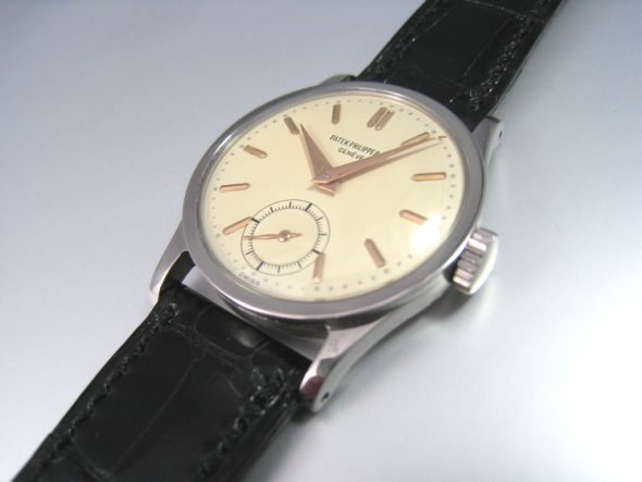 ref.96 steel with rose gold indexes