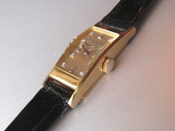 ref.2292 Ladies' rectangle with diamonds