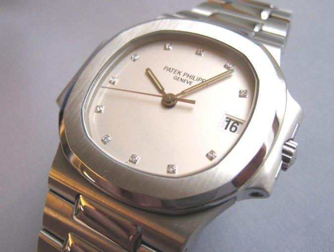ref.3800/001 white diamond set dial