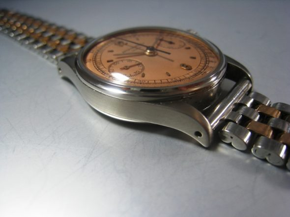 ref.130 Steel with pink matt dial