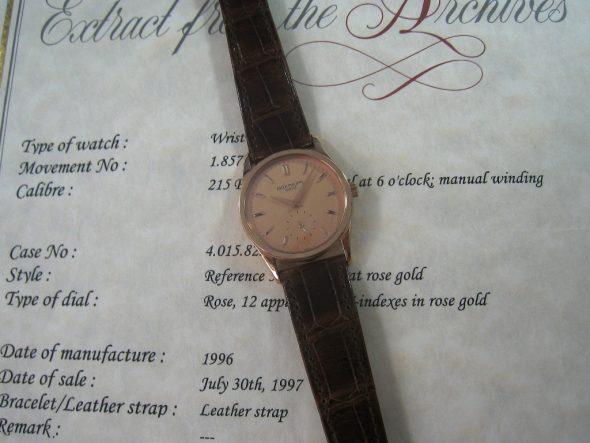 ref.3796 Rose gold rose dial