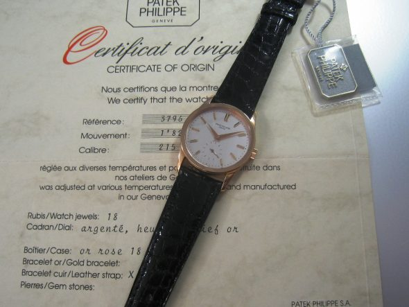 ref.3796 Rose gold with silver dial