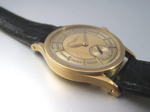ref.448 yellow gold two tone sector dial