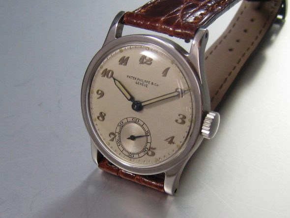 ref.96 steel with Breguet numerals and radium dots