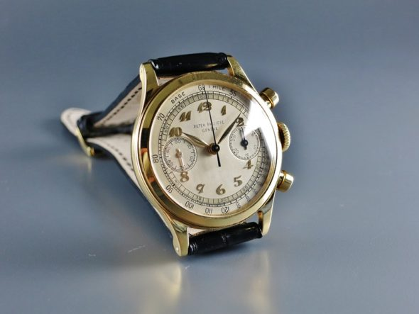 ref.1463 Yellow gold with two tone Breguet numerals