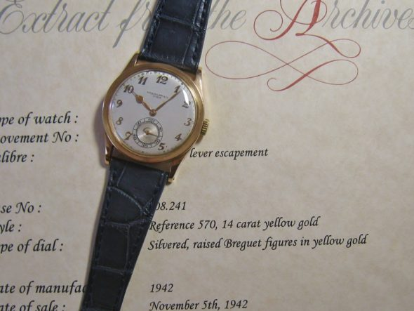 ref.570 14K Yellow gold with Breguet numerals