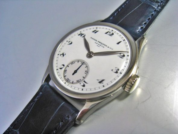 ref.96 White gold with enamel dial