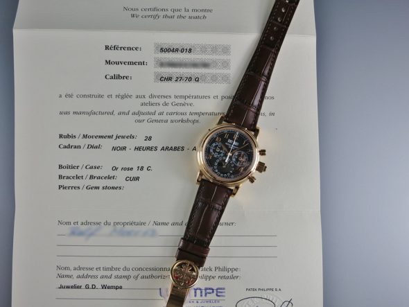 ref.5004R-018 Black dial