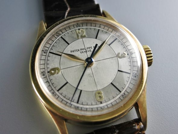 ref.96 Yellow gold  with two tone sector dial