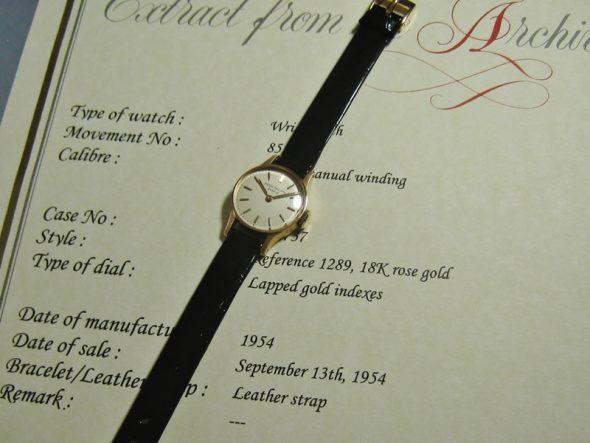 """ref.1289 rose gold """"Ladies' Calatrava"""""""
