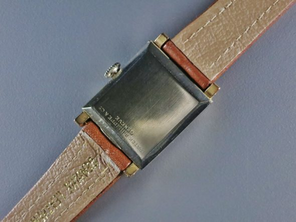 Old rectangle two tone case with black dial