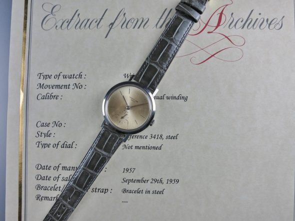 "ref.3418 steel ""Convertible"" retailed by BEYER"