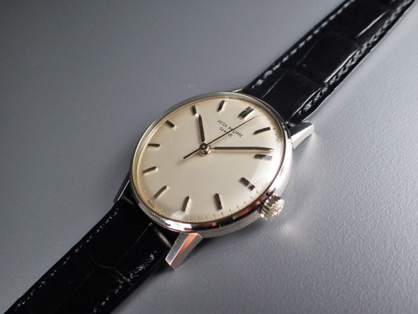 ref.3411 white gold with sweep seconds
