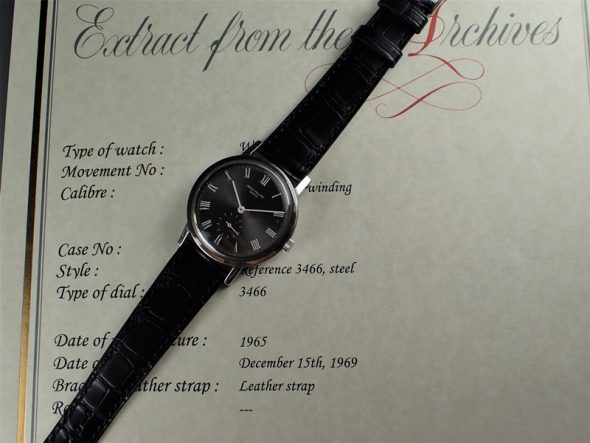 ref.3466 Steel with 'ARDOISE' dial