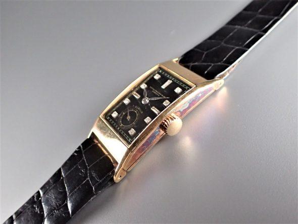 ref.425 yellow black dial & diamond indexes