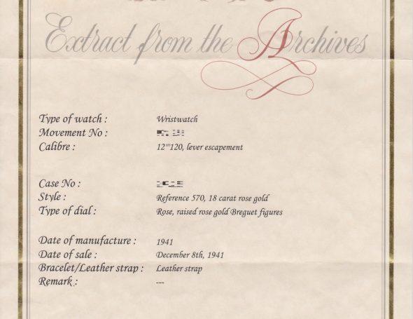 ref.570 Rose with Breguet numerals